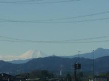 Mont Fuji au zoom d'un bus