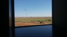 vue des WC sur une air d'autoroute